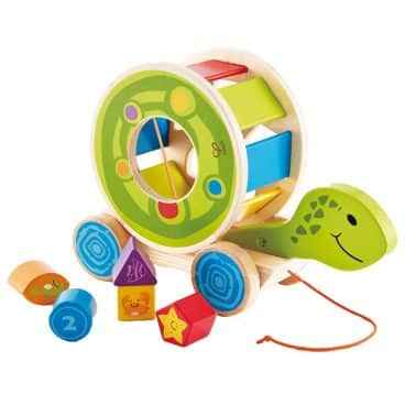 Hape Wooden Shape Sorter Pull Toy