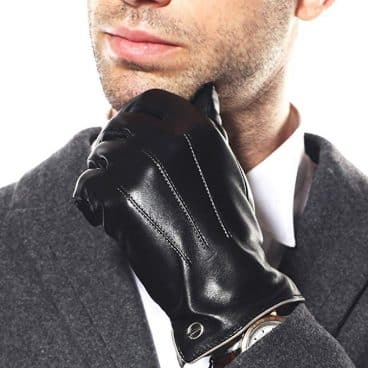 Luxury Men's Touchscreen Texting Winter Italian Nappa Leather Dress Driving Gloves