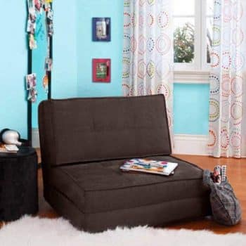 Your Zone - Flip Chair Convertible Sleeper Dorm Bed Couch Lounger Sofa Multi Color