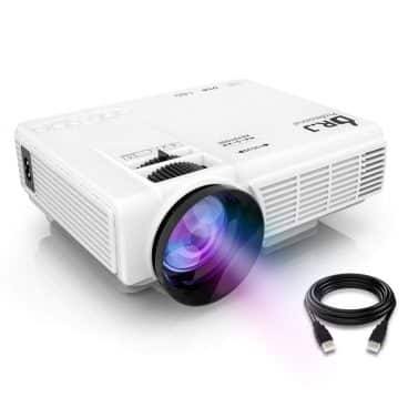 "DR.J (Latest Upgrade) 4Inch Mini Projector with 170"" Display"