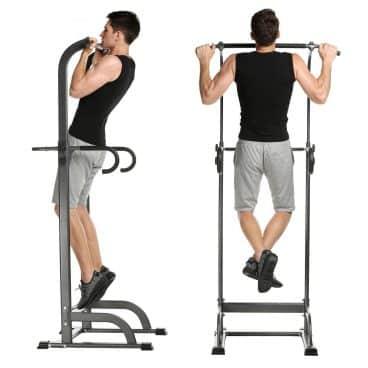 Power Tower Bar, Adjustable Free Standing Pull Up Bar for Home Strength Training Equipment