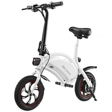 ANCHEER Folding Electric Bicycle/E-Bike/Scooter 350W Ebike with 12 Mile Range