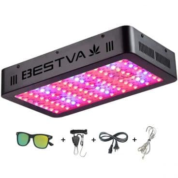 BESTVA 1000W LED Grow Light Full Spectrum Dual-Chip Growing Lamp