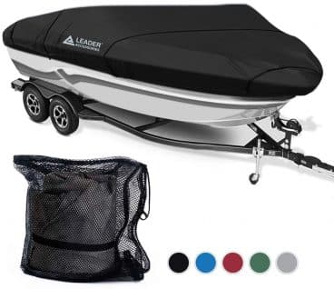 Leader Accessories 600D Polyester 5 Colors Waterproof Trailerable Runabout Boat Cover