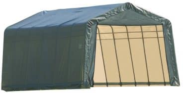 ShelterLogic 71444 Green 12'x20'x8' Peak Style Shelter