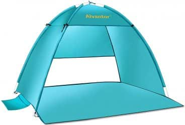 Alvantor Beach Tent Super Bluecoast Beach Umbrella Outdoor Sun Shelter Cabana Automatic Pop Up