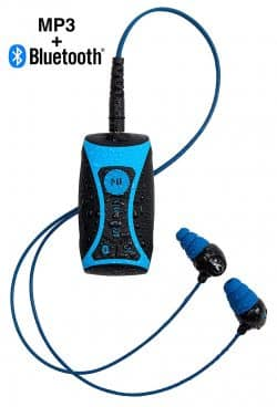 100% Waterproof Stream MP3 Music Player with Bluetooth and Underwater Headphones