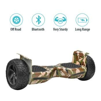 NHT Hoverboard - All Terrain Rugged 6.5-8.5 Inch Wheels Off-Road