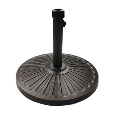 "Sunnyglade 18"" 30.2-lbs Outdoor Living Heavy Duty Round antiqued Patio Umbrella Base"