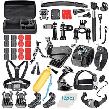 VanteexPro 60-in-1 Accessories Bundle Kit for Gopro Hero 7 6 5