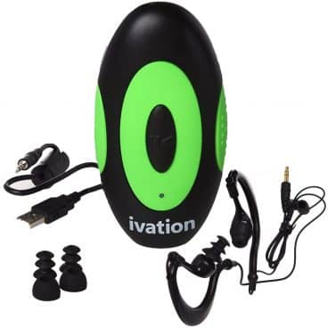4GB Waterproof MP3 Player & Earphones with Built-in Support Clip