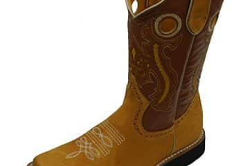 Children Youth Sizes Cowboy Boots Leather Square Toe Rodeo Boys Western Plain