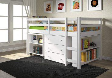 Donco Kids 760 Low Sturdy Loft Bed White