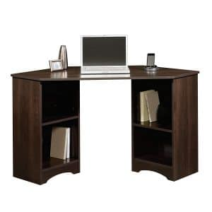 Sauder Beginnings Corner Desk Cinnamon Cherry Finish