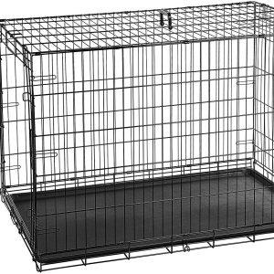 Amazon Basics Single Door & Double Door Folding Metal Dog Crate