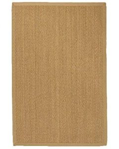 NaturalAreaRugs Four Seasons Area Rug Natural Seagrass Hand-Crafted Sage Wide Canvas Border