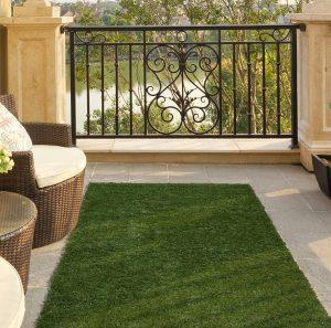 """Ottomanson Garden Collection Solid Grass Design Runner Rug, 20"""" x 59"""""""