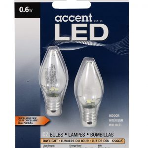 Sylvania 78563 0.6 Watt Accent LED C7 Night Light Bulb