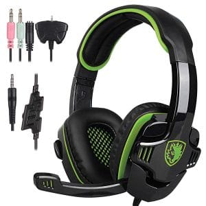 Stereo Gaming Headphone SADES Headset Earphone with Microphone