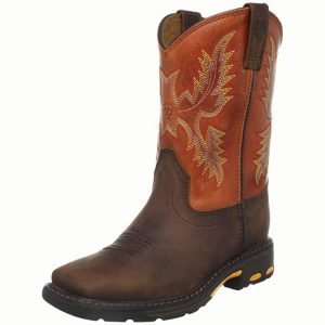 Ariat Kids' Workhog Wide Square Toe Western Boot