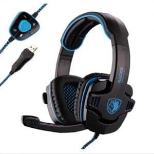 Sades Stereo USB Gaming Headset with Mic Headband Headphone