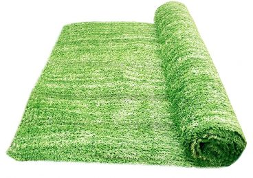 "Artificial Grass Area Rug – Grass Height: 0.4"" - Size: 4-feet x 6-feet - Perfect Color"