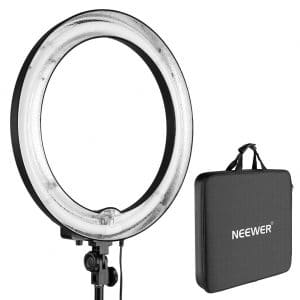 Neewer 18 inches 75W 5500K Dimmable Fluorescent Ring Light for Camera Photo Studio Portrait Photography
