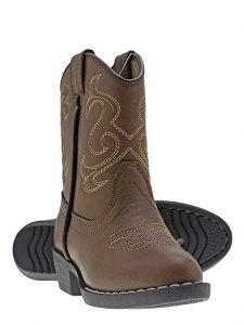 Canyon Trails Kids' Lil Cowboy Pointed Toe Classic Western Rodeo Boots.