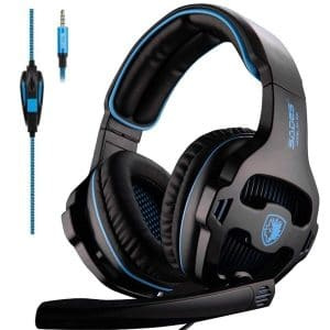 SADES Gaming Headset with Over-Ear Mic Volume Control for PC