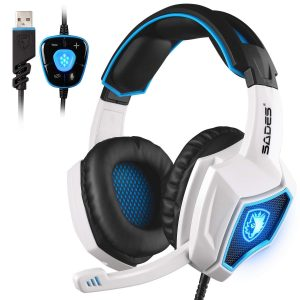 SADES Spirit Wolf Surround Sound USB Computer Gaming Headset