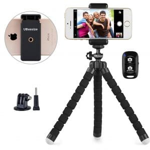 Portable and Adjustable Camera Stand Holder with Wireless Remote