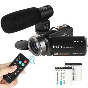 ACTITOP 1080P FHD Camcorder 24.0MP 16X Digital Zoom Video Camera