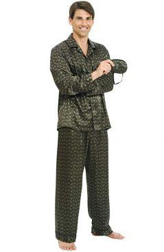 Alexander Del Rossa Mens Satin Pajamas