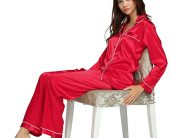 Top 12 Best Women Silk Satin Pajamas Sets Review 2019