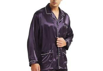 Mens Silk Satin Pajamas Set Sleepwear Loungewear