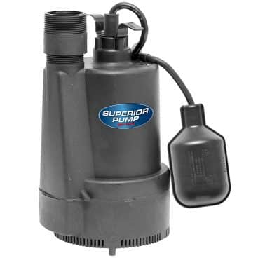 Thermoplastic Submersible Sump Pump with Tethered Float Switch