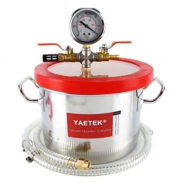 YAETEK 1.5 Gallon Stainless Steel Vacuum Chamber Silicone Kit for Degassing Resins
