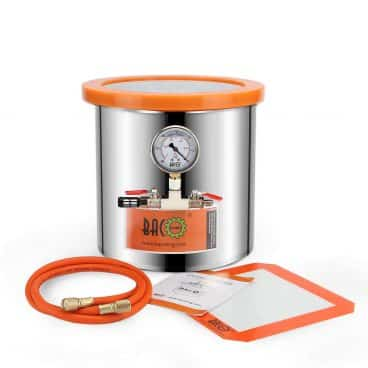 BACOENG 3 Gallon Tempered Glass Lid Stainless Steel Vacuum Chamer Perfect