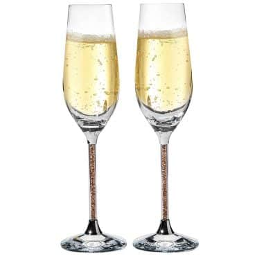 Matashi Set of 2 Champagne Flutes with Lead Free