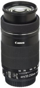Canon Wide Angle Len EF 55-250mm f/4-5.6 III STM lens