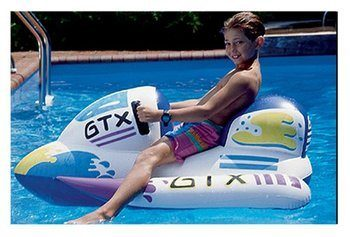 3. Swimline Inflatable Ski Ride-On 1 - Bumper Boat