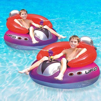 6. Swimline UFO Squirter Pool Floating Gam