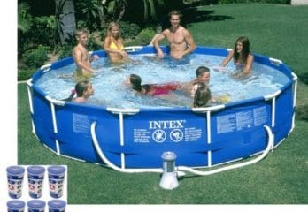 Intex 12' by 30in. Metal Frame Swimming Pool Set for Adult