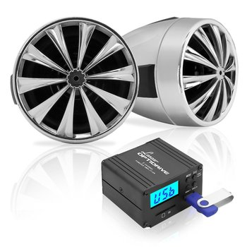 6. Lanzar Motorcycle Speaker and Amplifier System 700 Watt Weatherproof