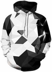 10. Pandolah Men's Patterns Print 3D Sweaters Fashion Hoodies Sweatshirts Pullover