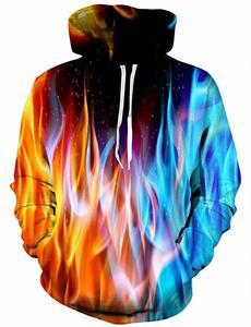 11. YAJOOEY Realistic 3D Print Galaxy Pullover Hooded Sweatshirt
