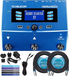12. TC Helicon VoiceLive Play Vocal Effects Pedal Bundle with 12V 400mA DC Power Supply