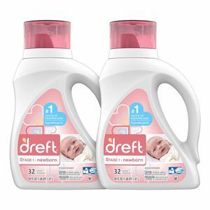 14. Dreft Stage 1 Newborn Hypoallergenic Liquid Baby Laundry Detergent (HE)