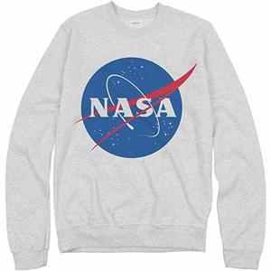14. NASA Logo Grey Sweater Unisex Gildan Crewneck Sweatshirt