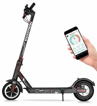 2. Swagtron High-Speed Electric Scooter with 8.5-inch Cushioned Tires